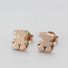 Fashion cute teddy bear design stud earrings for women and girls