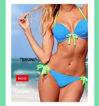 Бесплатная доставка 2014 новый печать комплект росту бикини для женщин FashionSexy купальник купальнике купальники