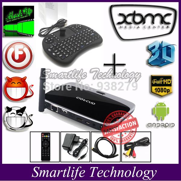 Smartlife RK3188 Quad Core Android TV Box Media Player Smart TV xbmc HD 1080p WIFI Streamer +i8 mini keyboard(China (Mainland))