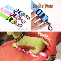 Adjustable 2.5cm  Wide  Nylon Dog Pet Safety Car Vehicle Seat Belt Candy Colors 43-70cm Length