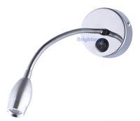 S032A SWITCH 3W 200Lumen Flexible arm light LED wall lamp LED reading lamp LED gooseneck light Hotel project lamp