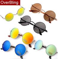 2014 New Unisex Hippie Shades Hippy 60S John Lennon Style Vintage Round Peace Sunglasses Eyewear Men and Women Round Sunglass
