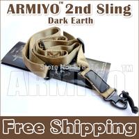 Armiyo 2nd Multi Mission Camera Strap Carry Belt Steel Mount Sling Hunting Telescope Sport Dark Earth Free Shipping