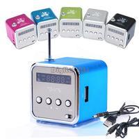 5 Colors Digital Portable Mini Speakers Music MP3/4 Player Micro SD/TF USB Disk Speaker FM Radio #11 SV001051