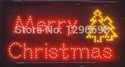 2015 New Time-limited Graphics semi-outdoor 15mm 15.5X27.5 inch Ultra Bright merry christmas LED lighted sign(China (Mainland))