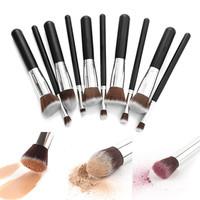 8PCS Professional Pro Makeup Brushes Cosmetics Foundation Makeup Brush Kit Set Wooden Makeup Brush tools Free shipping