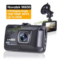Novatek 96650 Car DVR Camera 1296P 30FPS Dash Cam 3.0'' Screen WDR Car Plate Stamp IR Night Vision Parking Guard Recorder C10