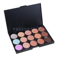 New Hot Selling Professional Salon/Party 15 Warm Colors Contour Face Cream Makeup Concealer Palette B6 SV003710