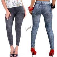 2014 New Fashion Leggings Denim Jeans Printed Clothing Ladies' Sexy Pencil Pants 2 Colors Leggings For Women #7 SV004648