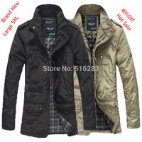 Winter jacket men free shipping 2014 hot sale man jacket large size 5XL casual jacket winter coat autumn outerwear