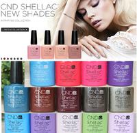 (24pcs/Lot)*7.3ml 2014 New CND Shellac UV Nail Gel Polish Soak Off Nail Gel UV 30 Days Long Lasting 79Colors The Best Gel Polish