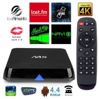 Bluetimes Amlogic 8726 M8 S802 Quad Core Android TV Box Android4.4 OS XBMC 4K 2.0GHz 2GB 8GB Bluetooth 5G wifi H265 hdd Player