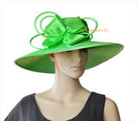 Mint green wide brim big All Year Around  Kentucky Derby Church Hat Wedding Hat Formal Dress Hat for races,melbourne cup .