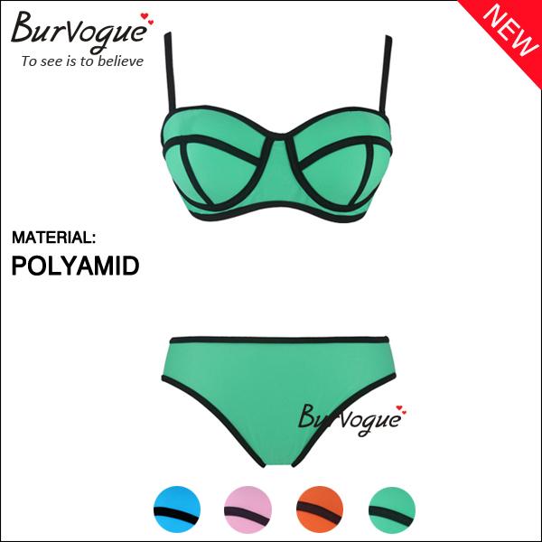 2014 new sexy brazilian Swimwear Triangl MILLY bikinis set push up bikinis and panties for women hot sale swimsuit(China (Mainland))