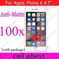 100pcs/lot Anti-Glare Matte /non fingerprint guard screen protector For Apple iPhone 6 6G iPhone6 6S 4.7'',with retail package