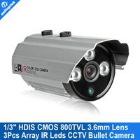 "CCTV Security Camera 1/3"" HDIS HD8050 238 CMOS Board 800TVL 3.6mm Lens 3pcs Array Leds With OSD Menu Outdoor Cam"