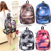 Free Ship new Space Stars Universe shoulder bag 2014 men and women backpack schoolbag College Wind lady's backpack #4 SV005087