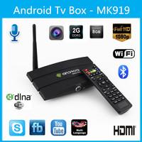 Android 4.2 Smart TV BOX Qaud core Mini PC HDMI Dongle CS918T RK3188 Cortex A9 2GB RAM 8GB Bluetooth WiFi movie 5.0MP HD Webcam