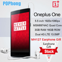 F Stock Bamboo oneplus one 64gb 5.5 inch FHD 1920*1080 CyanogenMod 11  4g lte phone Snapdragon 8974AC Quad Core 2.5GHz