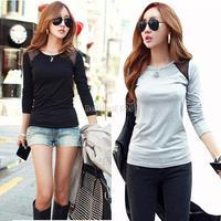 Women's Cotton Casual mesh patchwork Long Sleeve Casual T-shirts Tops For Women Sexy Blouse tee shirt b8 SV005845