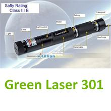 Hot sale! 2014 Burning Match High Power Adjustable Focal Laser 301Green Pointer Pen Flashlight 2000-8000meters(China (Mainland))