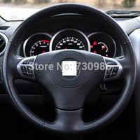 Steering Wheel Cover for Suzuki Grand Vitara Suzuki Vitara 2007-2013 XuJi Car Special Hand-stitched Black Genuine Leather Covers