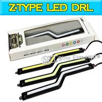2014 new Z-shaped daytime running lights COB LED daytime running lights Super birght Car led cob daytime running lights