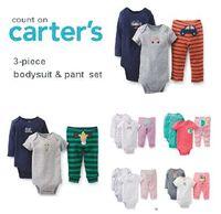 Carters Baby Boys Girls set , roupas de bebe ,conjunto de roupa Carters Baby Clothing Set, free ship ,carter clothing set