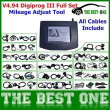 Newest Version Digiprog3 V4.94 Odometer Programmer Digiprog 3 Mileage Adjust Tool Digiprog iii Full Set With All Cables(China (Mainland))