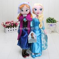 2pcs/set 40CM Plush Toys  New Princess Elsa plush Anna Plush Doll Brinquedos Kids Dolls for Girls