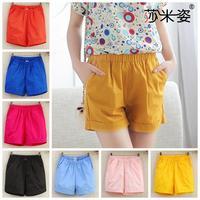 New 2014 summer candy colored casual beach shorts women big yards  cotton women short feminino 1040 0.16kg