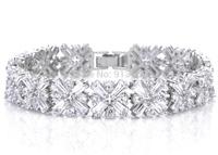 Luxurious Platinum Plated Crossing Clear Zircon Bracelet  Top AAA  Cubic Zirconia Bracelets Jewelry Gift Accessories For Women