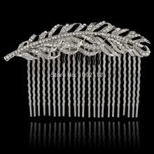 Bella Fashion Luxury Bridal Hair Accessories Hairpin Austrian Crystal Wedding Accessories For Bridesmaid Women