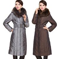 Women's Plus Size Down Jackets with Raccoon Fur Trimmed Hood Long Parkas Winter Coat Women Winter Jacket Women Down Coat J1218