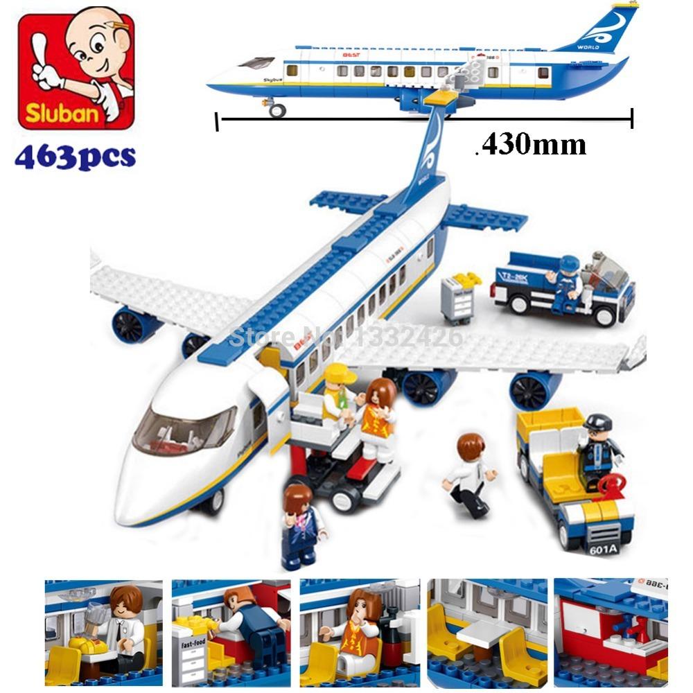 Simplebox Sluban M38-B0366 Air bus Plane aviation Building Blocks Transport enlighten aircraft vehicle Toys Bricks set for kid(China (Mainland))