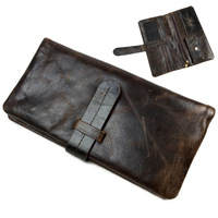 2014 New retro practical Oil waxing leather wallet cowhide genuine leather wallet vintage men wallet men's purse