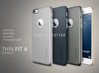 For Apple iPhone 6 Original Spigen Thin Fit A Lightweight Matte Back Cover Phone Case with Logo Cutout
