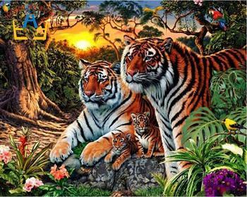 Бесплатная доставка новый рукоделие 100% полный квадрат дрель алмазного живопись поделок вышивки крестом алмазов вышивка мозаика тигр AA112