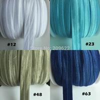 Beautiful Fold Over Elastic Band For DIY Baby Headwear/Ponytail Holder/Headband, Stretch Ribbon Sew-On Supplies 50 Yards/Roll