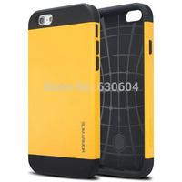 Colorful PC+Silicone SGP SPIGEN Slim Armor Case Cover for iPhone 6 4.7 inch 40pcs/lot=20pcs Case+20pcs Screen Protector