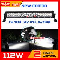 25inch 112W LED Work Light Bar for SUV Tractor ATV 12V 24V Offroad Fog light LED Worklight External Light Save on 120w 240w