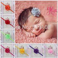 hair elastic infant head bands Chiffon flower headband newborn Photography Prop infant accessories