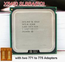 Spedizione gratuita per Intel Xeon x5460 processore( 3.16ghz/12 MB/1333 MHz/lga771) 2 pezzi adattatore libero(China (Mainland))