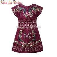 2015 New Brand Winter Girl Dress Key Print Pattern Princess Dress Casual Kids Dresses for Girls Children Vestidos Dress 2-12Y