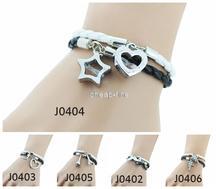 NEW BRAND Leather Bracelet Bangle Charm Bracelet Jewelry LOVE Couple Bracelet Aliexpress For Women Men 2PCS