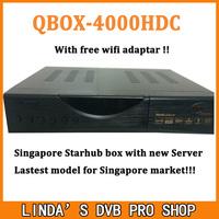 Free wifi adapter+Latest stable Singapore Starhub Cable TV  Qbox 4000hdc & Blackbox C808 Plus watch nagra3 BPL 2015-2016 !
