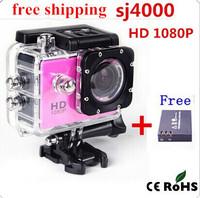 SJ4000 Camera Style 1080P FHD Car Dvrs Extreme Sport DV Action Camera Diving 30M +Extra 1pcs battery