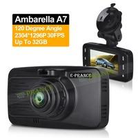 E-prance Ambarella A7 Car DVR Camera Dash Cam Super HD 1296P Car Video Recorder 3MP CMOS H.264 WDR LDWS Vehicle Dashboard OT10