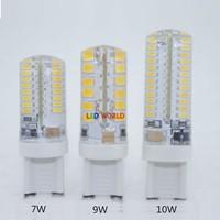 10pcs G9 LED Bulb 220V 6W 7W 9W LED Lamp G9 SMD 2835 3014 2014 new year CREE LED light 360 degree Beam Angle led spotlight lamps