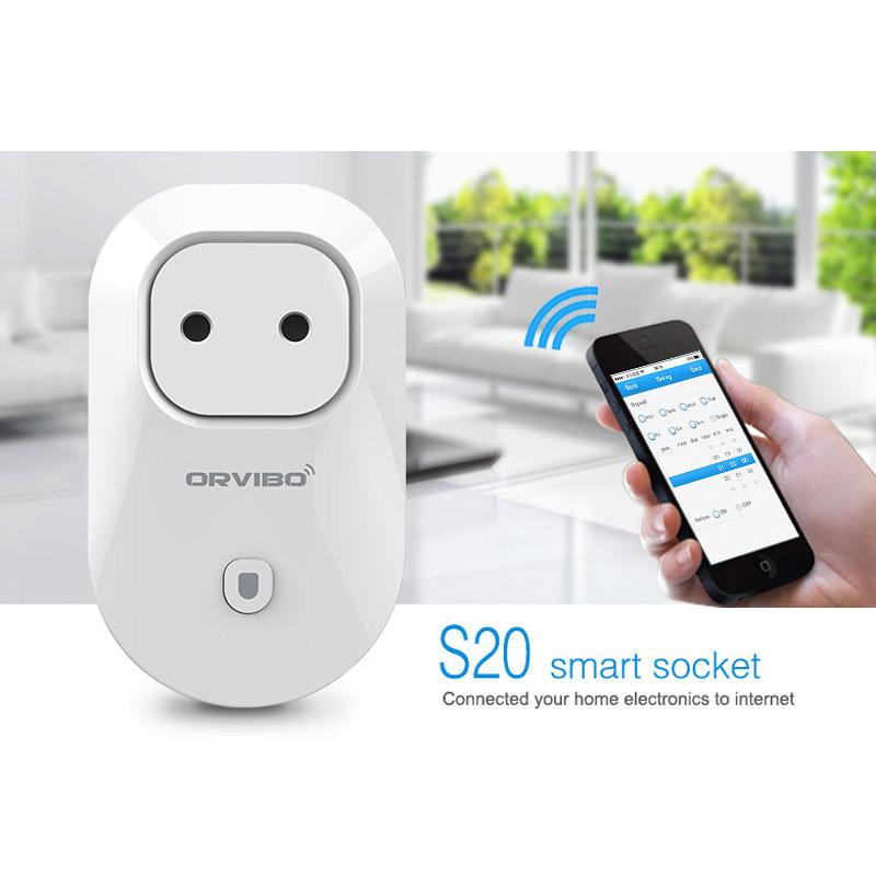 Orvibo EU,US,UK,AU Standard Power Socket Wi-Fi Smart Switch Travel Plug Socket Home Automation for iPhone Android Smartphones(China (Mainland))